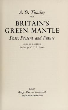 Cover of: Britain's green mantle | Tansley, A. G. Sir