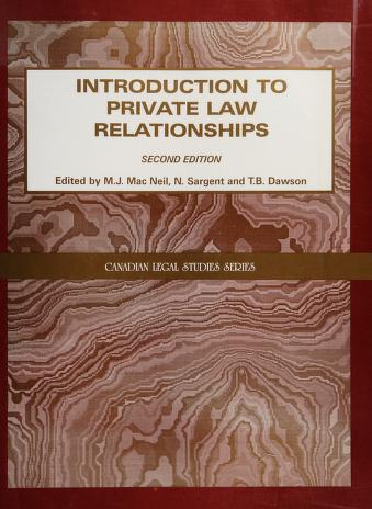 Cover of: Introduction to private law relationships | B. Dawson, N. Sargent