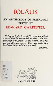 Cover of: Ioläus, an anthology of friendship | edited by Edward Carpenter