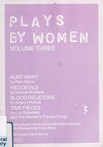 Cover of: Plays by women: |