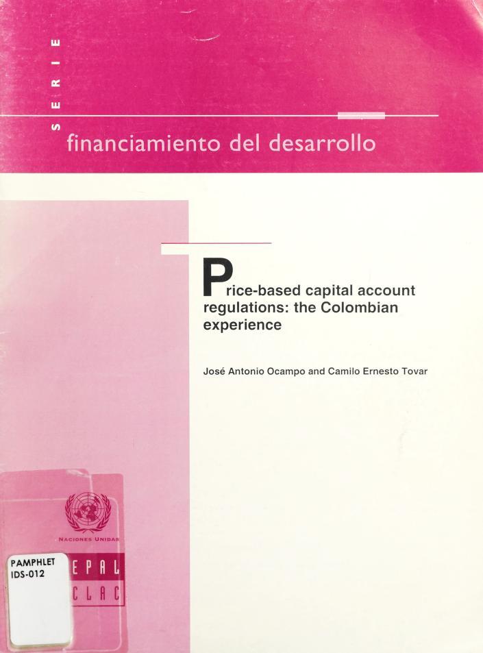 Price-based capital account regulations by José Antonio Ocampo