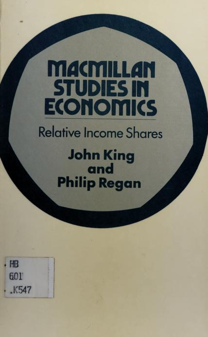 Relative income shares by King, J. E.