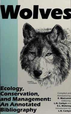 Cover of: Wolves   E. MacLaren